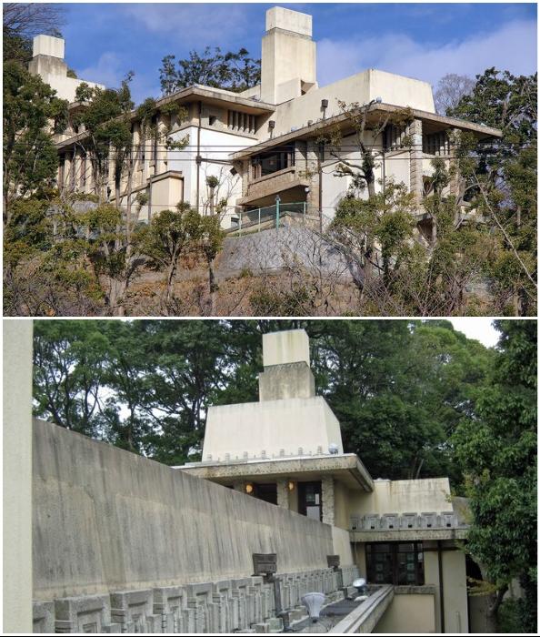 Единственное сохранившееся в Японии здание, спроектированное Фрэнком Райтом (Yamamura House, Ашия, 1924 г.).