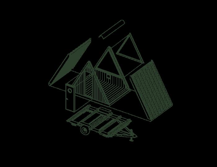 Мини-домик Bivvi Cabin можно собрать самостоятельно в любом месте. | Фото: bivvicamp.com.