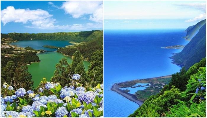 Вот такую красоту должны были видеть гости отеля Monte Palace из окон своих номеров (Азорские острова).