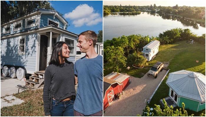 Американец Тим Дэвидсон вместо традиционного жилья приобрел дом на колесах и остров, на котором и обосновался. | Фото: boredpanda.com.