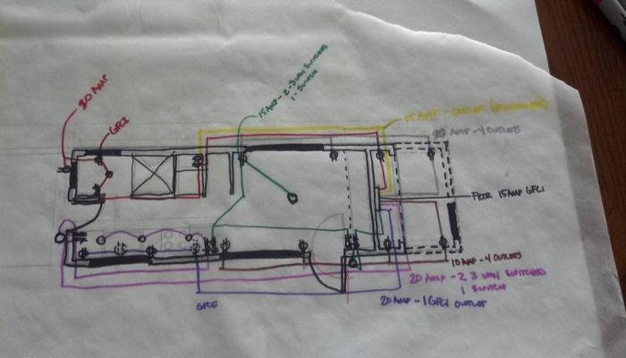 Собственноручный чертеж плана домика Мейси.