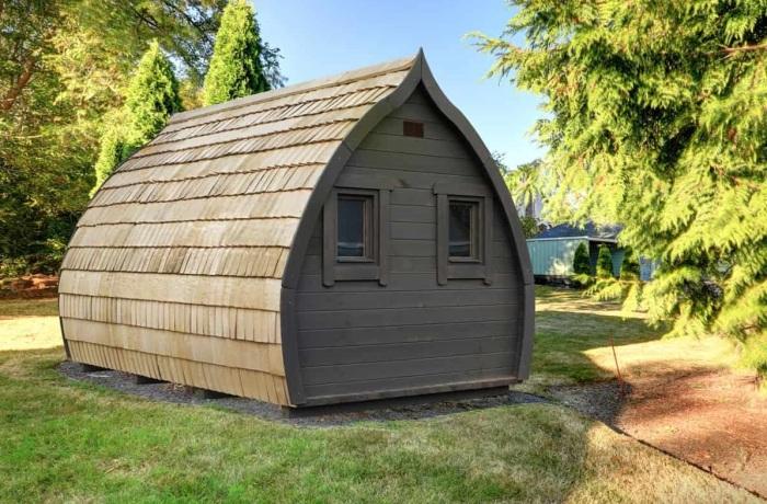 Может Дамблдор и согласился бы поменять свой таинственный кабинет на такой очаровательный садовый домик (концепт Dumbledore's office).   Фото: boredpanda.com.