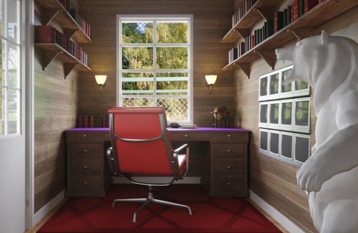 Для себя любимого «Монти» ничего не пожалел бы (концепт Mr. Burns' Office).   Фото: revistacasaejardim.globo.com.