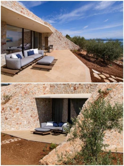 Из каждого номера и сьюта есть выход на индивидуальную открытую террасу (Villa Nai 3.3, Хорватия).
