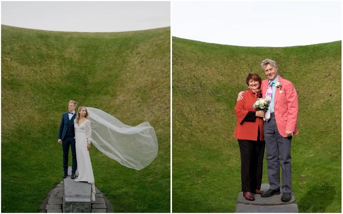 Молодожены со всех концов страны устремляются в необычный кратер не только для фотосессий (The Irish Sky Garden).