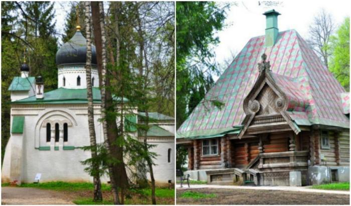 При Савве Мамонтове на территории усадьбы появилось множество сказочных строений («Усадьба Абрамцево», Подмосковье).