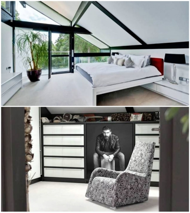 Одна из спальных комнат британского особняка Антонио Бандераса (Кобхэм, Великобритания).   Фото: lecturas.com.