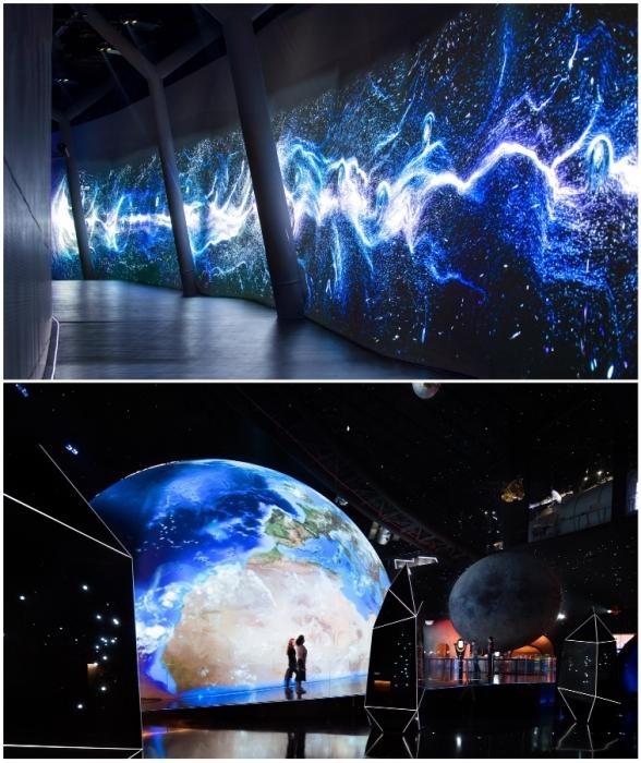 Впечатляющее оформление и визуализации помогут насладиться захватывающим зрелищем (The Shanghai Astronomy Museum, Китай).