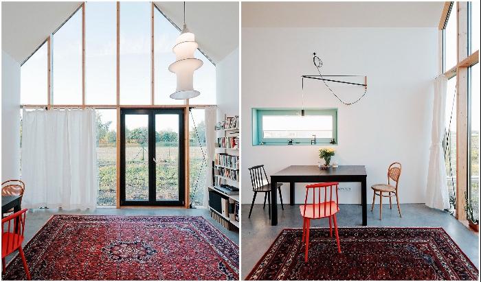 Открытая планировка позволила создать просторную гостиную-столовую (IST, Словакия).