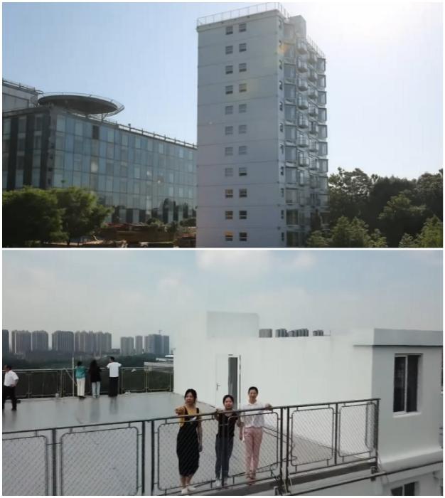 Через 28 часов 45 минут на благоустроенной крыше многоэтажного дома уже прогуливались люди (Чанша, Китай).