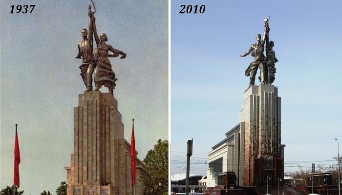 Монумент «Рабочий и колхозница» стал силовом целой эпохи в истории СССР.