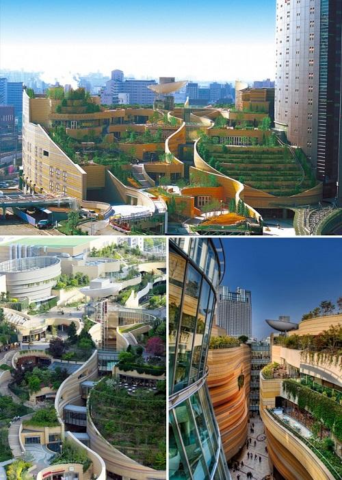Парки Намба (Namba Parks) – образец органической архитектуры (Осака, Япония).