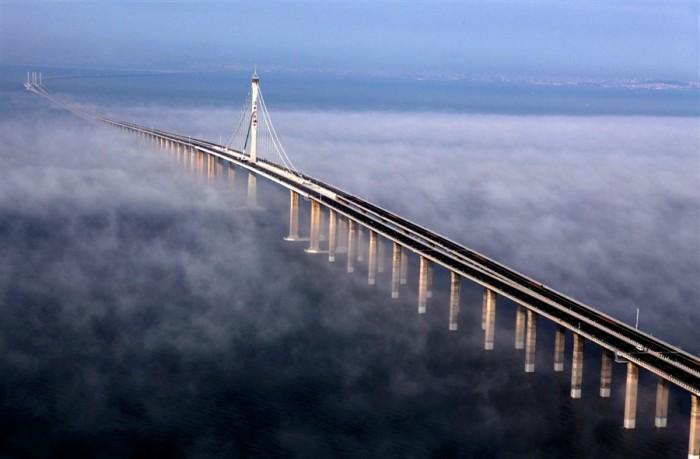 Даньян-Куньшаньский виадук – самый длинный железнодорожный мост.