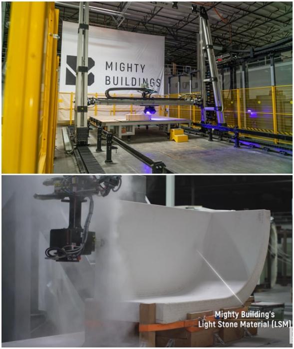 Панели для зданий будут печатать на дочернем предприятии Mighty Buildings, а на месте лишь собирать как конструктор.