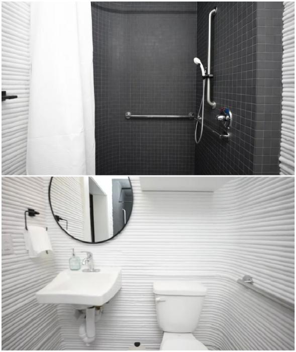 Благоустроенная ванная комната – мечта любого современного человека (Community First Village, Остин).