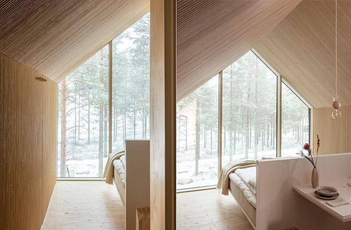 Светлые деревянные панели из сосны создают атмосферу уюта и тепла (Niliaitta, Финляндия).