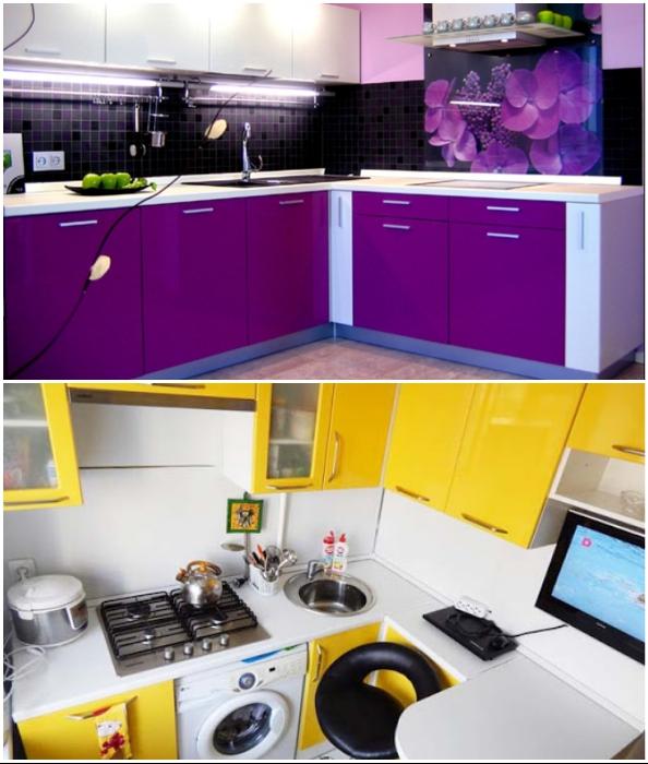 Эксцентричность неуместна при оформлении кухонного пространства.