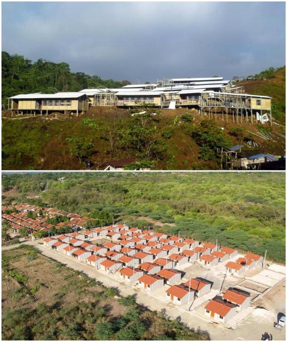 Благодаря панелям WPC целые поселения можно собрать в кратчайшие сроки (Колумбия).