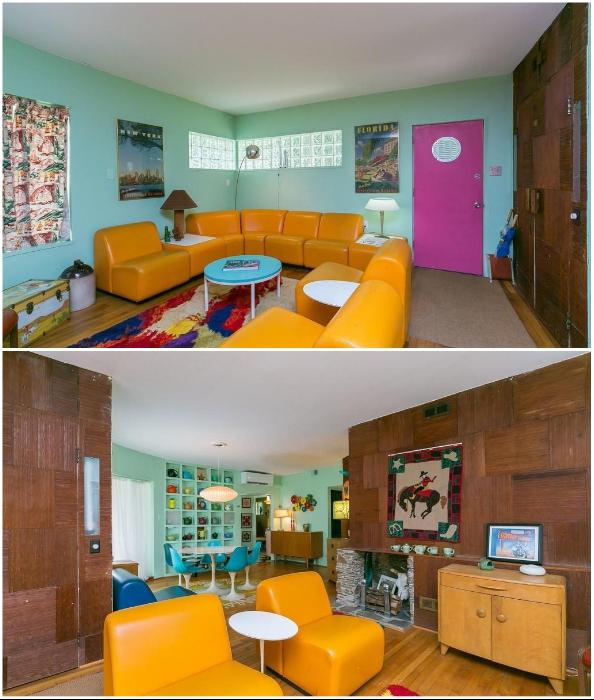 Гостиная в экстравагантном доме на Эрдман-Авеню (Eisenberg Residence, Балтимор).