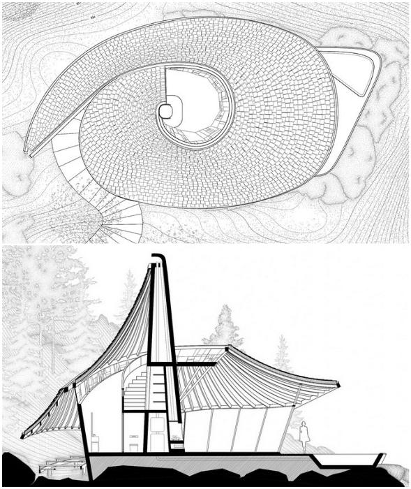 Конструкционные особенности эко-домика концепт YEZO от разработчиков архстудии LEAD.