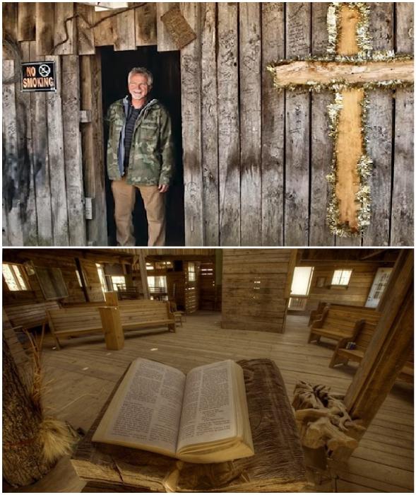 Гораций Берджесс выполнил главную миссию – создал на дереве церковь.