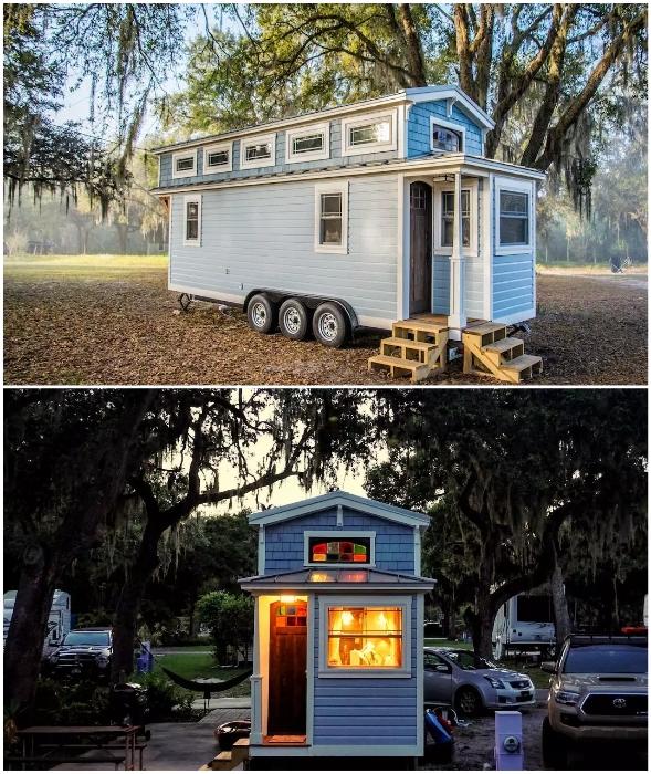 Покупка и обустройство крошечного дома «Тиффани» обошлись Тиму в 70 тыс. дол. (Флорида, США).