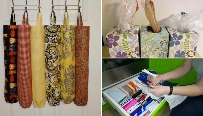 Пакеты с пакетами перекочевали в оригинальные мешочки и коробочки. | Фото: sovkusom.ru.