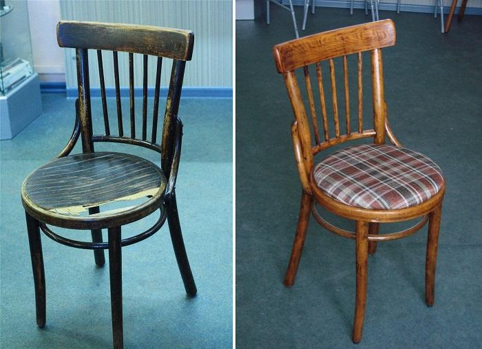 Миниатюрный стул, которому досталось от прежних хозяев, обрел новую жизнь. | Фото: pinterest.ru.