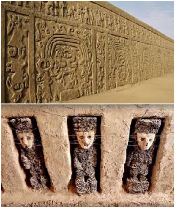 Вот такая красота открывается взору археологам и всем, кому интересно знать, как жили предки (Чан-Чан, Перу).