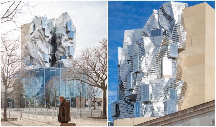 В формах башни и ее эксцентричном «наряде» отчетливо просматривается рука Фрэнка Гери (Luma Arles, Франция).