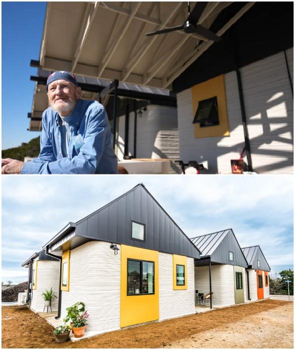 Тим Ши стал первым счастливчиком, который поселился в 3D-печатном доме (Community First Village, Остин).