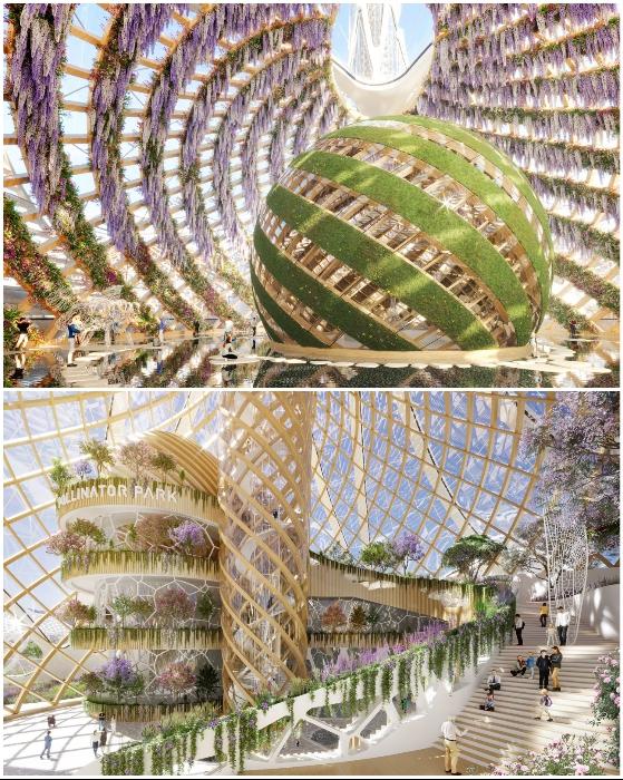 На смотровой площадке организуют экзотический парк (концепт Pollinator Park).