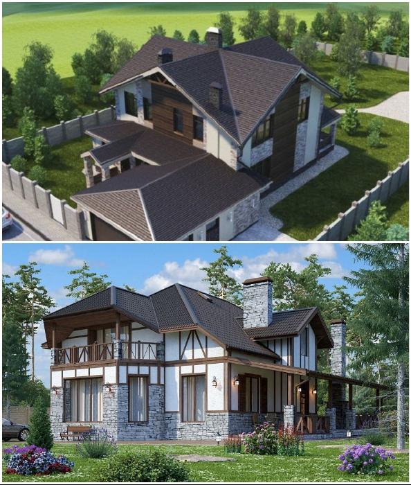 Сложная конструкция крыши увеличит стоимость проекта.