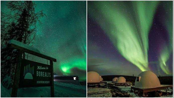 Базовый отель Borealis Basecamp предлагает удобства высокого уровня (Аляска, США).