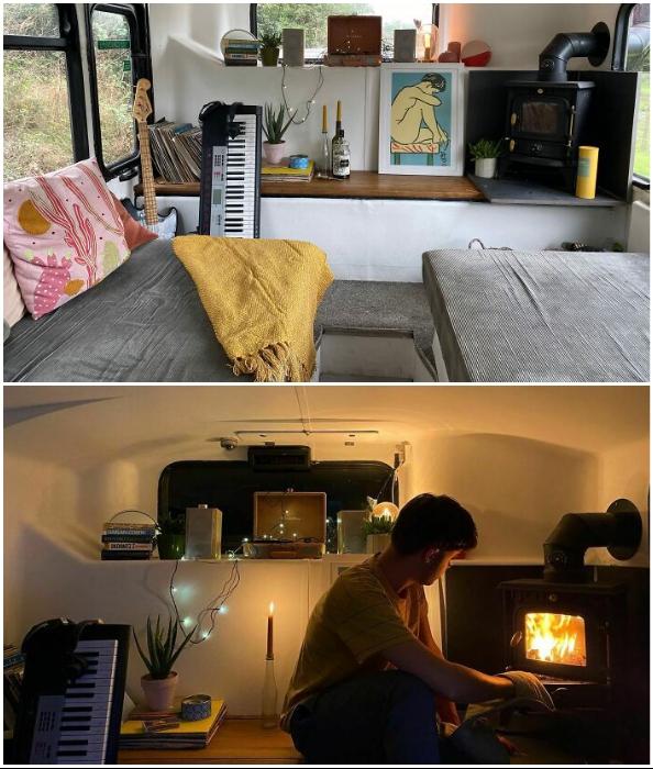Уютная гостиная с камином – мечты сбываются!