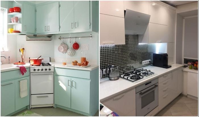 Даже миниатюрная кухня может быть и функциональной, и красивой.