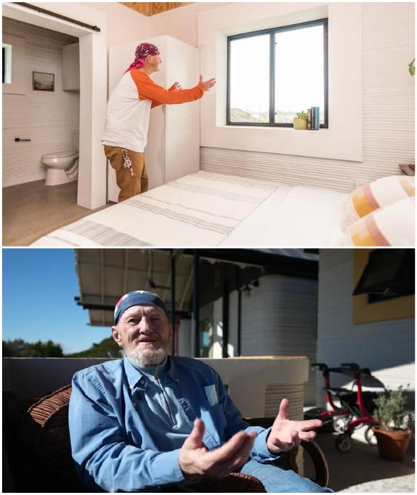 Тим Ши несказанно рад, что теперь у него есть достойное жилье (Community First Village, Остин).