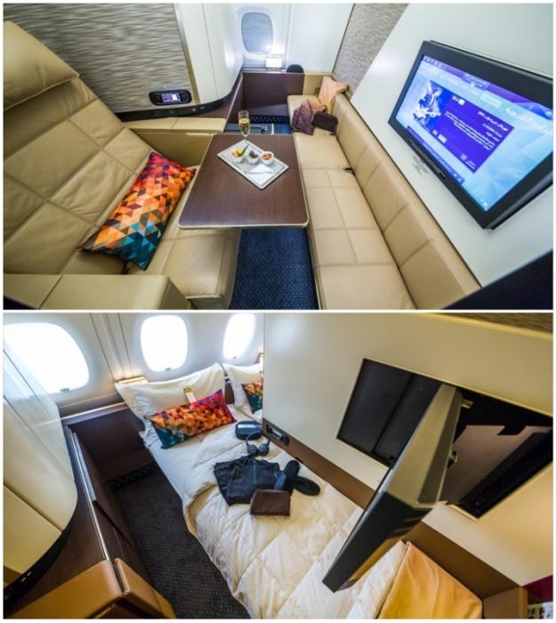 У пассажиров первого класса имеются отдельные апартаменты (Airbus А-380 Etihad).