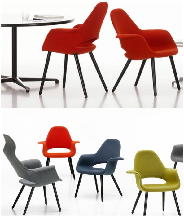 Кресла Organic Chair, созданные по проекту Ээро Сааринена и Чарльза Имза, до сих пор являются популярными моделями.