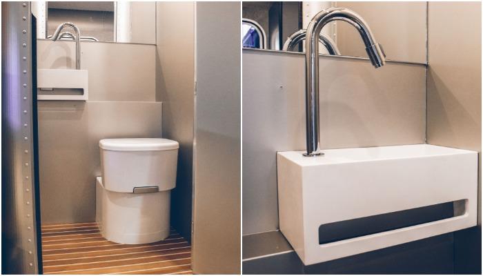 Благоустроенная ванная комната в кемпере модели Lume Nordic-LT540.