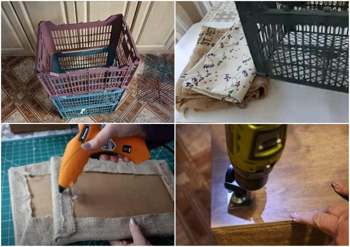 Для создания корзины для хранения вещей понадобится минимальный набор материалов и инструментов.