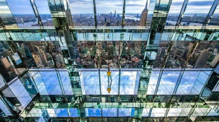 Внутри небоскреба в арт-зоне «Воздух» тоже можно наслаждаться восхитительным городским пейзажем (концепт Summit One Vanderbilt, Манхэттен). | Фото: en.premiumnewspaper.com.