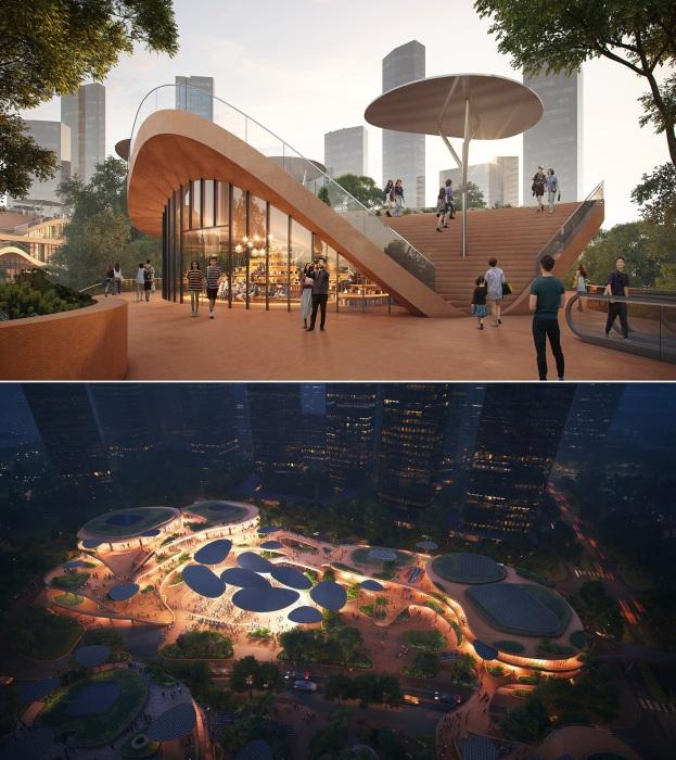 Shenzhen Terraces станет центром встреч, обучения, досуга, культуры и отдыха.
