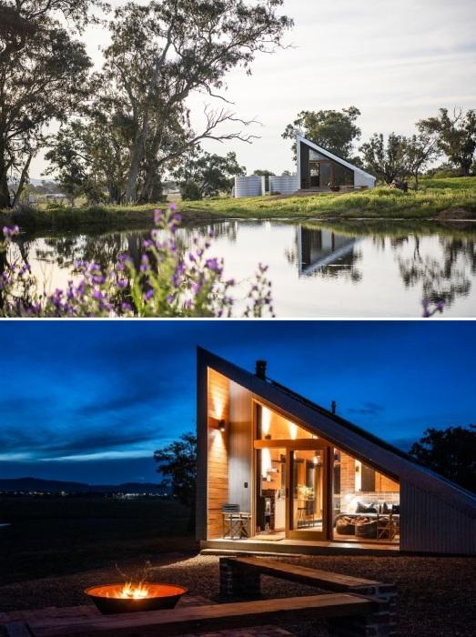 Зона отдыха и барбекю порадует любителей проводить вечера у костра и возле водоемов (Gawthornes Hut, Австралия).