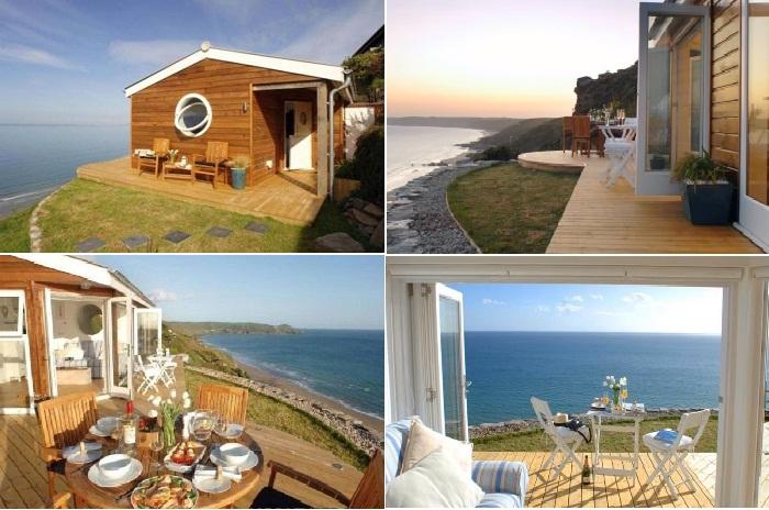 Идеальный домик на небольшом участке побережья.
