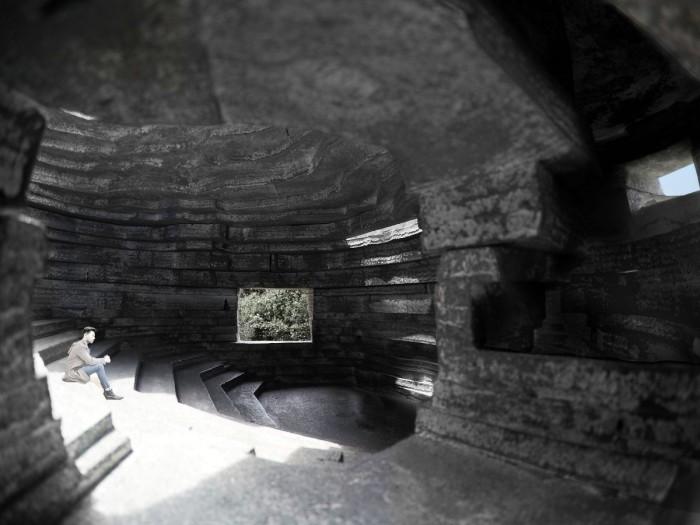 В «Chapel of Sound» будут организованы небольшие залы для закрытых мероприятий (визуализация «Chapel of Sound», Китай). | Фото: archdaily.com.