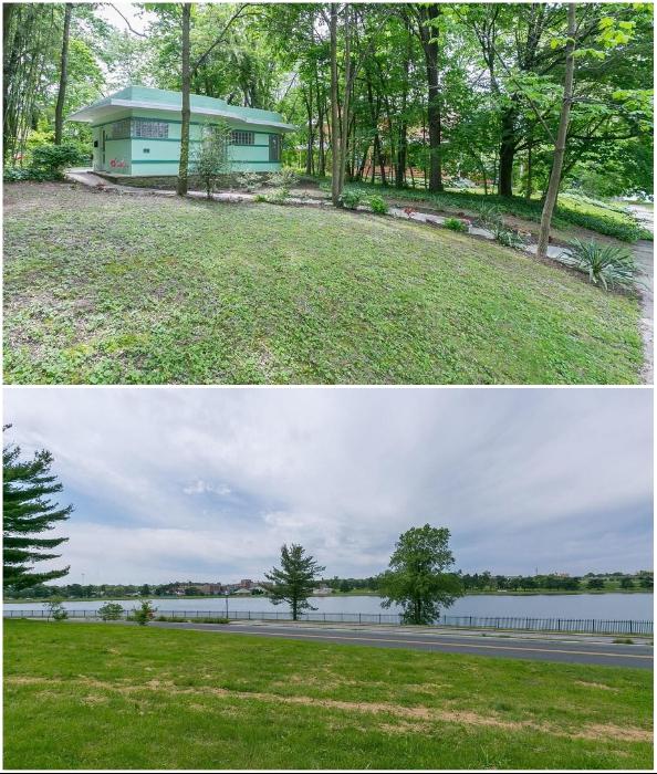 Айзенберг сделал все, чтобы из дома можно было беспрепятственно любоваться близлежащим озером Монтебелло (Eisenberg Residence, Балтимор).