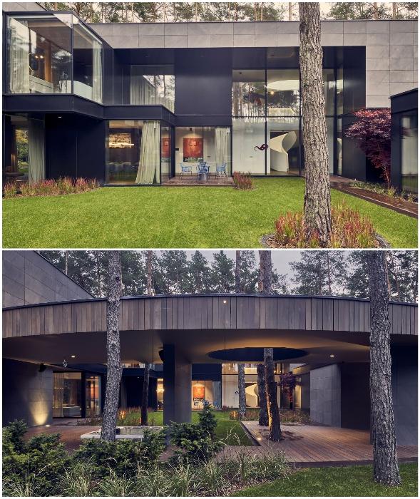 Из внутреннего двора есть выход в лес (Circle Wood, Польша).