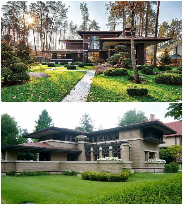 Эффектные загородные дома в стиле прерий от Фрэнка Ллойда Райта.