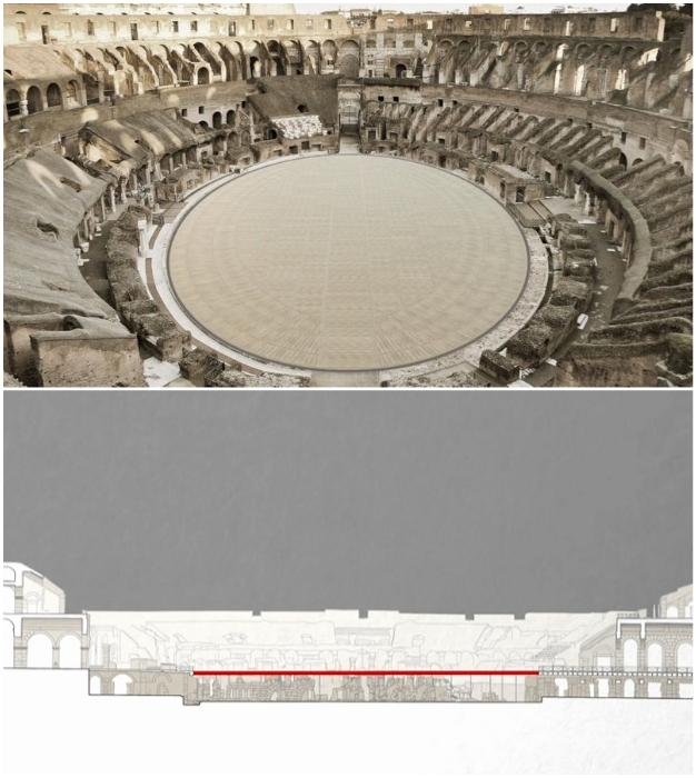 Планируется установка деревянной арены из высокотехнологичных панелей.